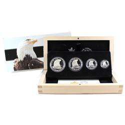 2015 Canada Bald Eagle Fractional Fine Silver 4-coin Set (TAX Exempt). Please note coins may be ligh