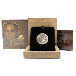 2017 Tuvalu $2 Norse Goddesses - Frigg 2oz Antique Finish High Relief Fine Silver Coin (TAX Exempt)