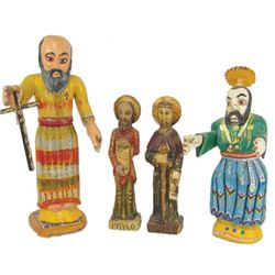 4 Carved Religious Figures