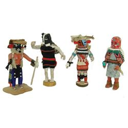 4 Hopi Kachina Carvings