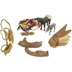 Box Lot of Miscellaneous Indian Items