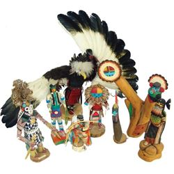 Box Lot of Kachina Carvings