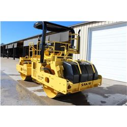 """2006 SAKAI SW800 ROLLER; VIN/SN:40161 - TANDEM, VIBRATORY, 66"""" SMOOTH DRUMS, WATER SYSTEM, CANOPY, 4"""