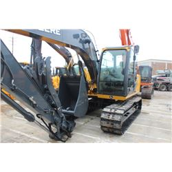 "2011 JOHN DEERE 120D HYDRAULIC EXCAVATOR; VIN/SN:37496 - 9'-11'' STICK, 30'' BUCKET, 60"" CLEAN OUT B"