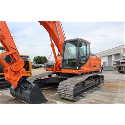 2012 DOOSAN DX255LC HYDRAULIC EXCAVATOR; VIN/SN:5249 - DIGGING BUCKET, 60'' CLEAN OUT BUCKET, QUICK