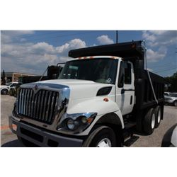 2014 INTERNATIONAL 7400 WORK STAR DUMP TRUCK; VIN/SN:1HTWHAAR0EH763573 - T/A, 300 HP INT. DIESEL, AL