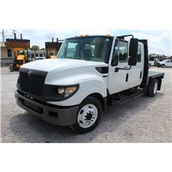 2013 INTERNATIONAL TERRASTAR FLATBED TRUCK; VIN/SN:1HTJSSKKXDH195608 - CREW CAB, 300 HP INTERNATIONA