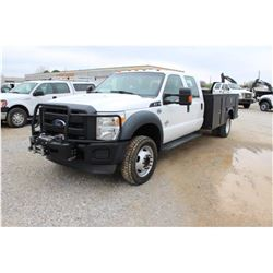 2013 FORD F550 SERVICE TRUCK; VIN/SN:1FD0WH5T4DEA51791 - 4X4, CREW CAB, V8 POWERSTROKE DIESEL, A/T,