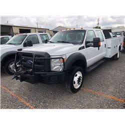 2012 FORD F550 SERVICE TRUCK; VIN/SN:1FD0W5HY7CEB85480 - 4X4, CREW CAB, V10 GAS, A/T, AC, FRONT MTD