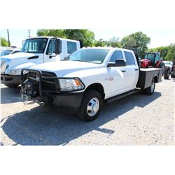 2012 DODGE 3500 SERVICE TRUCK; VIN/SN:3C7WDTCT1CG289186 - 4X4, CREW CAB, V8 GAS, A/T, AC, FRONT MTD.