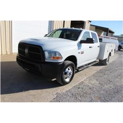 2012 DODGE 3500 SERVICE TRUCK; VIN/SN:3C7WDSCT6CG167983 - CREW CAB, V8 GAS, A/T, AC, OMAHA SERVICE B