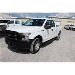 2016 FORD F150 PICKUP TRUCK; VIN/SN:1FTFX1EF7GFB37629 - 4X4, EXT. CAB, V8 GAS, A/T, AC, 54,077 MILES