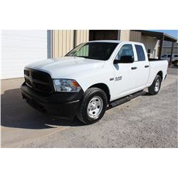 2015 DODGE 1500 PICKUP TRUCK; VIN/SN:1C6RR7FT1FS757758 - 4X4, EXT. CAB, V8 GAS, A/T, AC, 65,313 MILE