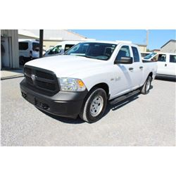 2015 DODGE 1500 PICKUP TRUCK; VIN/SN:1C6RR7FT0FS765351 - 4X4, EXT. CAB, V6 GAS, A/T, AC, 66,602 MILE