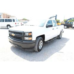 2015 CHEVROLET 1500 PICKUP TRUCK; VIN/SN:1GCRCPEC2FZ206726 - EXT. CAB, V8 GAS, A/T, AC, 51,917 MILES