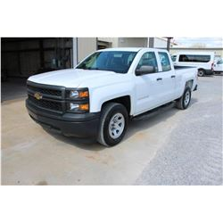 2015 CHEVROLET 1500 PICKUP TRUCK; VIN/SN:1GCRCPEC8FZ207606 - EXT. CAB, V8 GAS, A/T, AC, 56,224 MILES