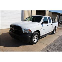 2015 DODGE 1500 PICKUP TRUCK; VIN/SN:1C6RR6FT3FS742141 - EXT. CAB, V8 GAS, A/T, AC, 55,329 MILES