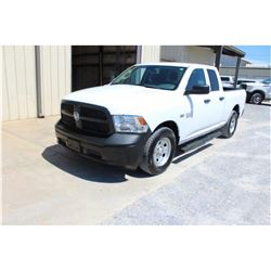 2015 DODGE 1500 PICKUP TRUCK; VIN/SN:1C6RR6FT5FS761645 - EXT. CAB, V8 GAS, A/T, AC, 57,005 MILES