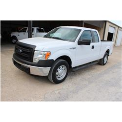 2014 FORD F150 PICKUP TRUCK; VIN/SN:1FTEX1CM1EFC09631 - EXT. CAB, V6 GAS, A/T, AC, 49,242 MILES