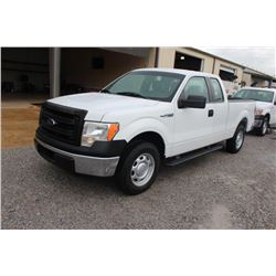2014 FORD F150 PICKUP TRUCK; VIN/SN:1FTEX1CM4EFC09624 - EXT. CAB, V6 GAS, A/T, AC, 64,145 MILES