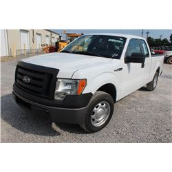 2012 FORD F150 PICKUP TRUCK; VIN/SN:1FTEX1CM9CFB36764 - EXT. CAB, V6 GAS, A/T, AC, 49,873 MILES
