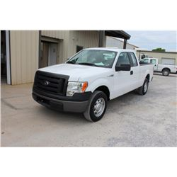 2012 FORD F150 PICKUP TRUCK; VIN/SN:1FTEX1CM1CFB36757 - EXT. CAB, V6 GAS, A/T, AC, 51,691 MILES