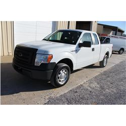 2012 FORD F150 PICKUP TRUCK; VIN/SN:1FTEX1CM3CFB58825 - EXT. CAB, V6 GAS, A/T, AC, 53,047 HOURS
