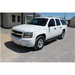 2013 CHEVROLET SURBURBAN VIN/SN:1GNSK5E75DR279380 - 4X4, V8 GAS, A/T, AC, 3RD RED SEATING, 79,292 MI