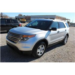 2014 FORD EXPLORER VIN/SN:1FM5K8B84EGC26764 - 4X4, V6 GAS, A/T, AC, 3RD ROW SEATING, 73,401 MILES
