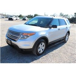 2014 FORD EXPLORER VIN/SN:1FM5K8B82EGB80092 - 4X4, V6 GAS, A/T, AC, 3RD ROW SEATING, 80,481 MILES