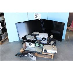 DVD PLAYER, DVD PROJECTOR, CAMERA, AVIATION HEADSET, MONITORS