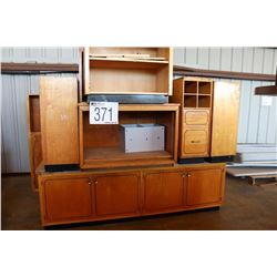 MISC. CABINETS, BOOKCASE, TABLE