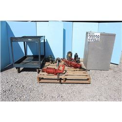 JACKS, PUMPS, UTILITY CART, TOOLBOX