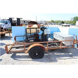 TOOL BOX & PRESSURE WASHER MOUNTED ON UTILITY TRAILER