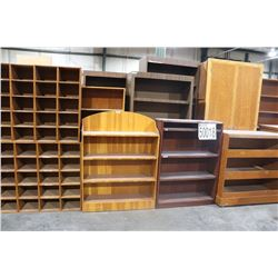 BOOKCASES, DRAFTING TABLES, VERTICAL PLAN FILE CABINETS
