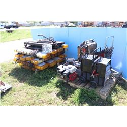 STROBE LIGHTS, BATTERY PACKS, BATTERY CHARGERS, IMPACT WRENCHS, GENERATOR, OIL DRAIN ASSEMBLY,