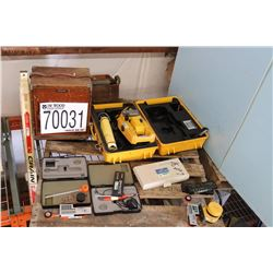 SURVEYING EQUIPMENT (PLANIMETERS, LEVELS, DISTANCE MEASURERS, PRISM, TOTAL STATION, PROXIMITY MONITO