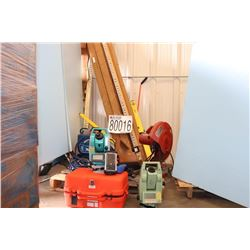 SURVEY EQIPMENT LEVELING RODS, LEVELS, TOTAL STATIONS, DATA COLLECTOR, DISTANCE MEASURING WHEEL, SAW