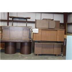 DESKS, TABLES, BOOKCASES, CABINETS, DRAFTING TABLE
