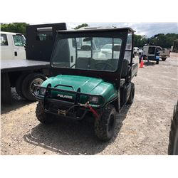 2004 POLARIS RANGER UTV, VIN/SN:434073 - 4X4, DUMP BED, CANOPY, WINCH, METER READING 200 HOURS