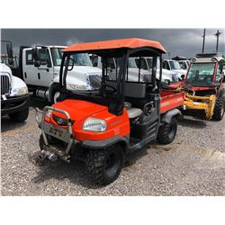 2009 KABOTA RTV900WCH VIN/SN:98757 - 4X4, DIESEL ENGINE, CANOPY, WINCH, METER READING 436 HOURS