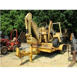VERMEER V450 TRENCHER, VIN/SN:1VRF082LXN1001061 - 7' BAR, BACKHOE ATTACHMENT, 6' X 16', T/A TRAILER,