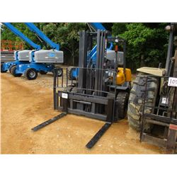 TCM FHD36 FORKLIFT, VIN/SN:A3800266 - 7,500# CAPACITY, DOUBLE STAGE MAST, CANOPY, METER READING 9,90