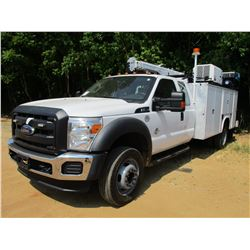 2014 FORD F550 SERVICE TRUCK, VIN/SN:1FD0X5GT5EEB03560 - EXT CAB, POWER STROKE DIESEL ENGINE, A/T, A