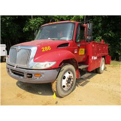 2007 INTERNATIONAL 4200 SERVICE TRUCK, VIN/SN:1HTMPAFM47H429802 - S/A, VT365 DIESEL ENGINE, 6 SPEED