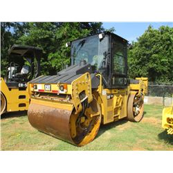 "2012 CAT CD54B ROLLER, VIN/SN:GRT00102 - TANDEM, VIBRATORY, 67"" SMOOTH DRUM, WATER SYSTEM, ECAB W/AC"