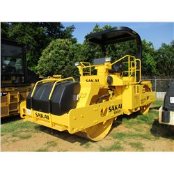 "2006 SAKAI SW800-I ROLLER, VIN/SN:40161 - TANDEM, VIBRATORY, 66"" SMOOTH DRUMS, WATER SYSTEM, CANOPY,"