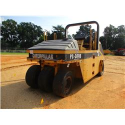 "2001 CAT PS-360B PNEUMATIC ROLLER, VIN/SN:9LS00207 - 90"" WIDTH, 7-WHEEL, ROLL BAR, WATER SYSTEM, MET"