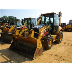 "2008 CAT 420E LOADER BACKHOE, VIN/SN:HLS07224 - E-STICK, MP BUCKET, FORKS, 24"" HOE BUCKET, ECAB W/AC"