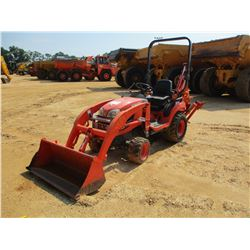 KUBOTA BX250D LOADER BACKHOE, VIN/SN:64456 - MFWD, PTO, ROLL BAR, KUBOTA LA240 FRONT LOADER ATTACH,